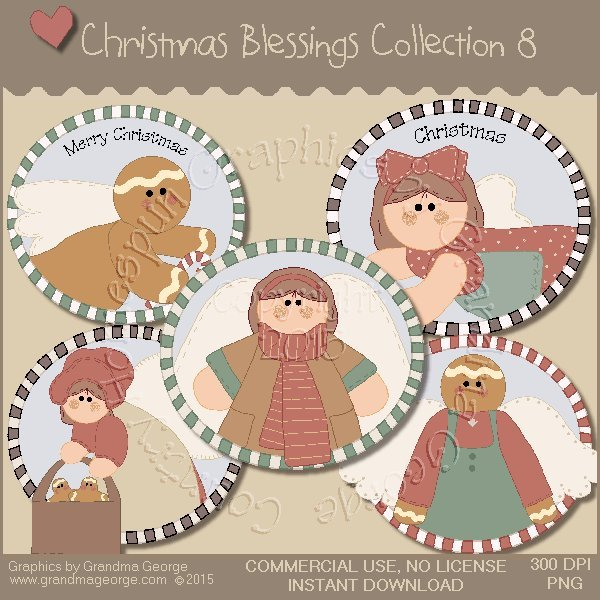 Christmas Blessings Graphics Collection Vol. 8