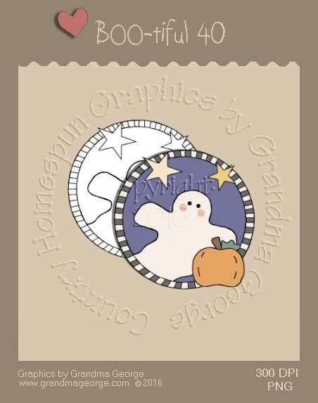 BOO-tiful - Halloween Single Country Graphic 40
