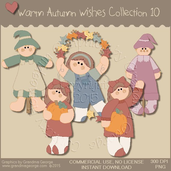 Warm Autumn Wishes Graphics Collection Vol. 10