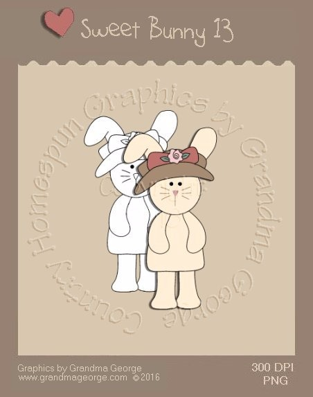 Sweet Bunny Single Country Graphic 13