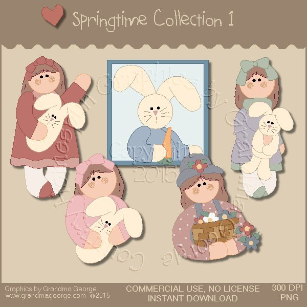 Country Springtime Graphics Collection Vol. 1