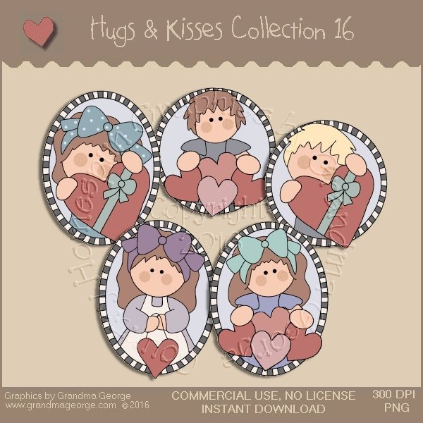 Hugs & Kisses Valentine Country Graphics Collection Vol. 16