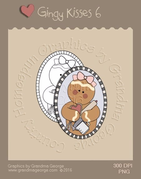 Gingy Kisses Single Country Graphic 6