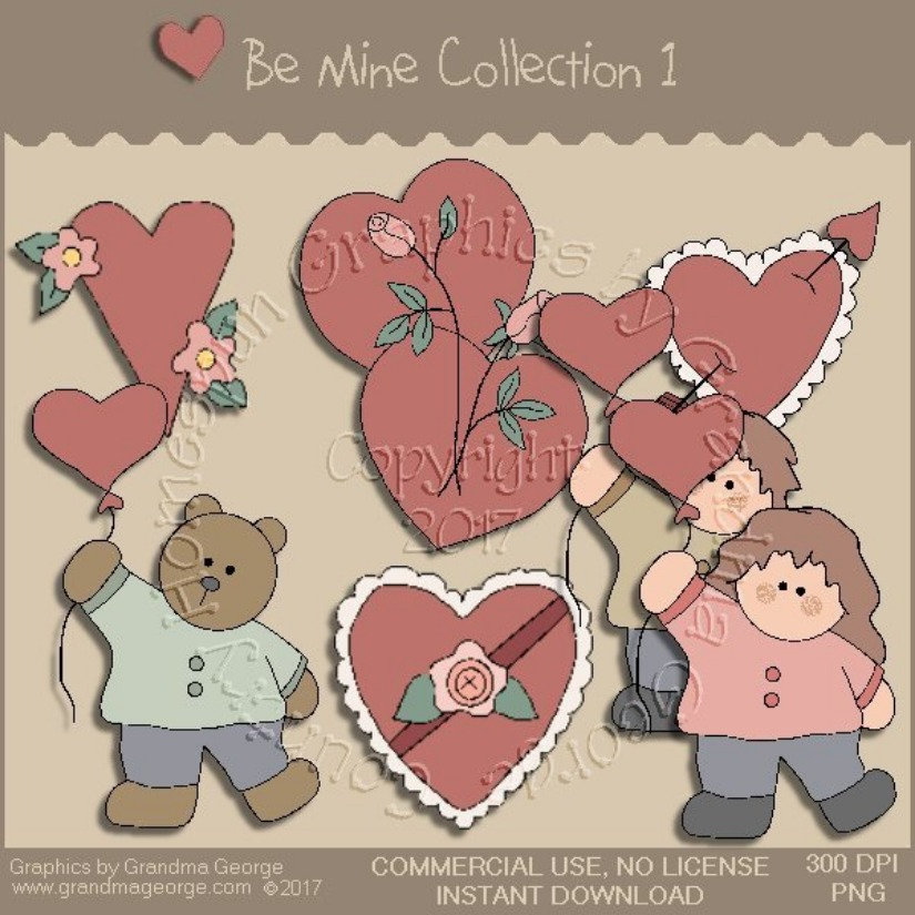 Be Mine Valentine Country Graphic Collection Vol. 1
