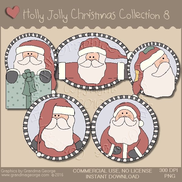 Holly Jolly Christmas Country Graphics Collection Vol. 8
