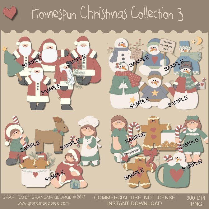 Homespun Christmas Collection Vol. 3