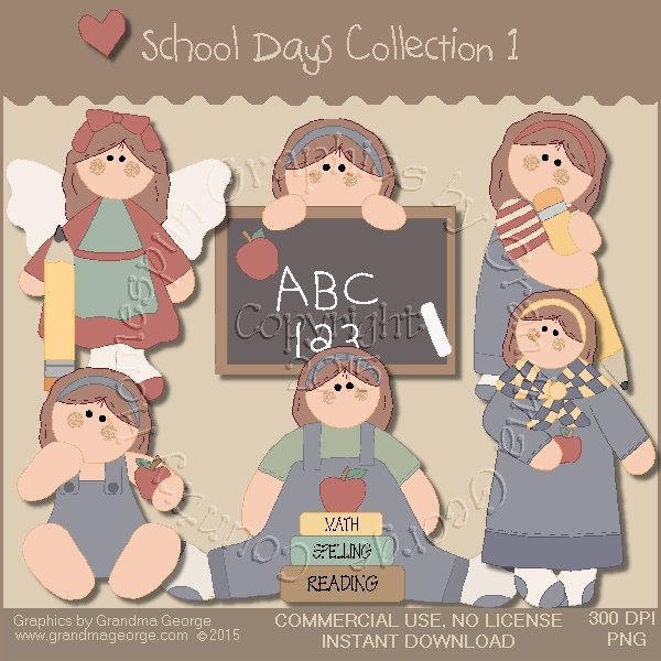 School Days Country Graphics Collection Vol. 1
