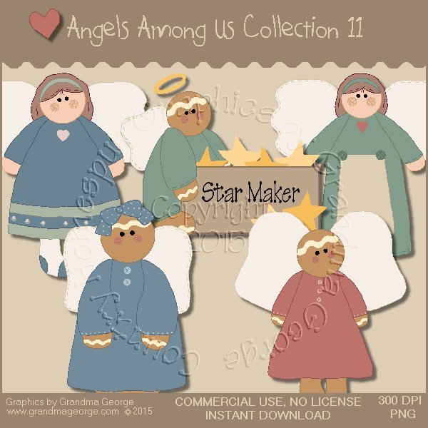 Angels Among Us Graphics Collection Vol. 11