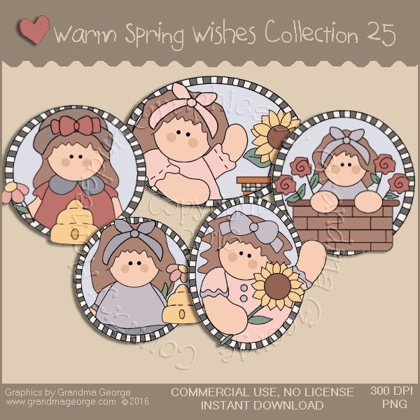Warm Spring Wishes Country Graphics Collection Vol. 25