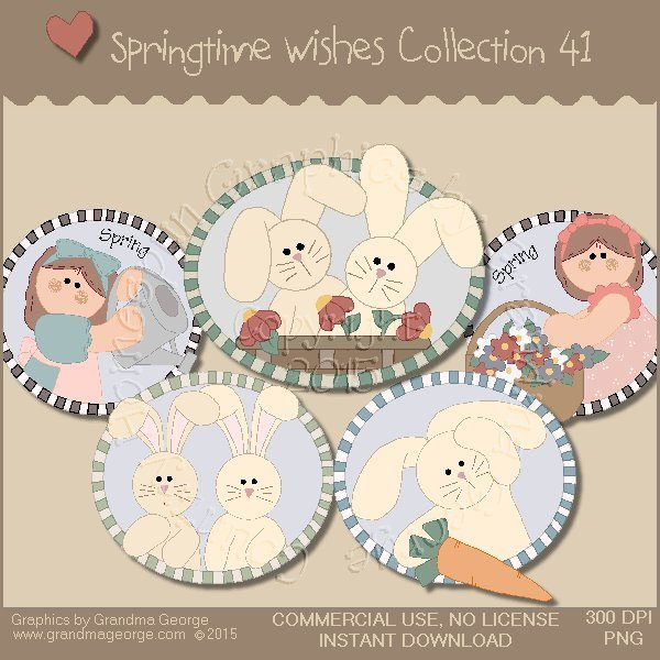 Country Springtime Wishes Graphics Collection Vol. 41