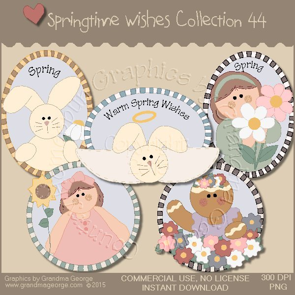 Country Springtime Wishes Graphics Collection Vol. 44