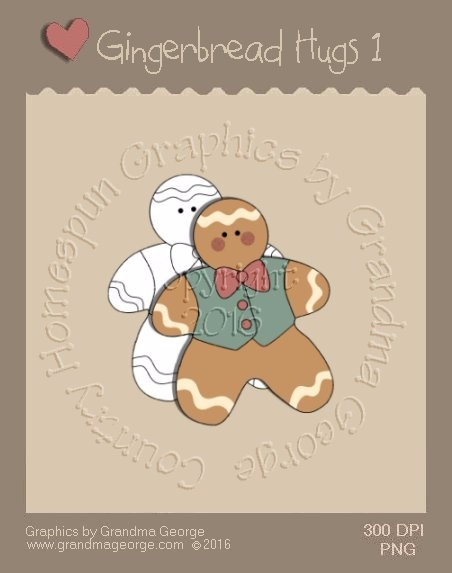 Gingerbread Hugs Single Country Graphic 1