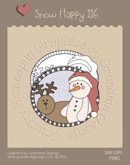 Snow Happy Single Country Graphic 116