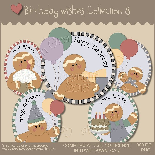 Birthday Wishes Country Graphics Collection Vol. 8