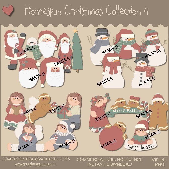 Homespun Christmas Collection Vol. 4