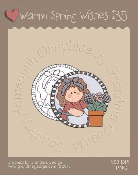 Warm Spring Wishes Single Country Graphic 135