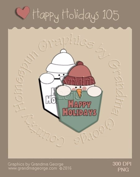 Happy Holidays Christmas Single Country Graphic 105
