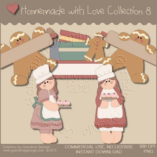 Homemade with Love Graphics Collection Vol. 8