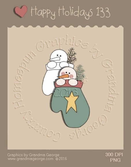 Happy Holidays Christmas Single Country Graphic 133