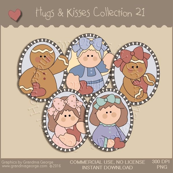 Hugs & Kisses Valentine Country Graphics Collection Vol. 21
