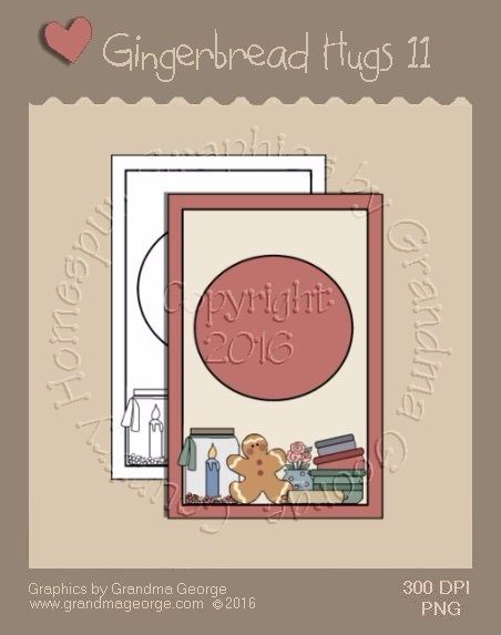 Gingerbread Hugs Single Country Graphic 11
