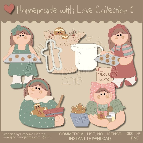 Homemade with Love Graphics Collection Vol. 1
