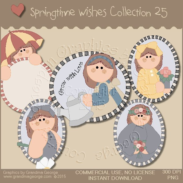 Country Springtime Wishes Graphics Collection Vol. 25