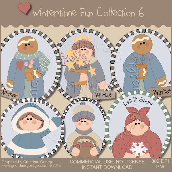 Wintertime Fun Graphics Collection Vol. 6