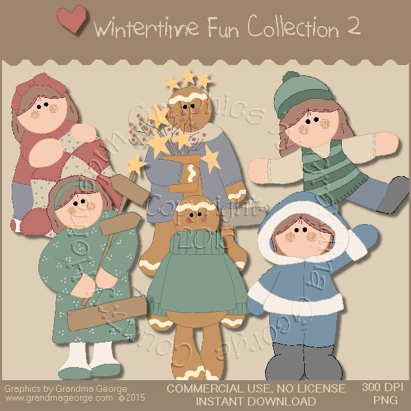 Wintertime Fun Graphics Collection Vol. 2