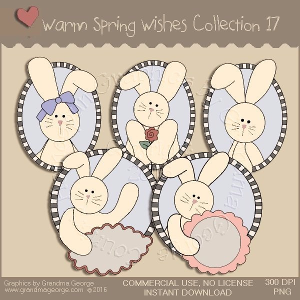 Warm Spring Wishes Country Graphics Collection Vol. 17