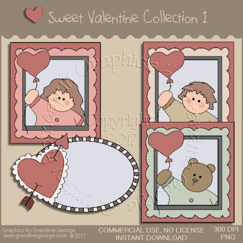 Sweet Valentine Country Graphics Collection Vol. 1