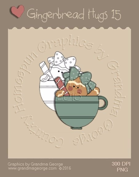 Gingerbread Hugs Single Country Graphic 15