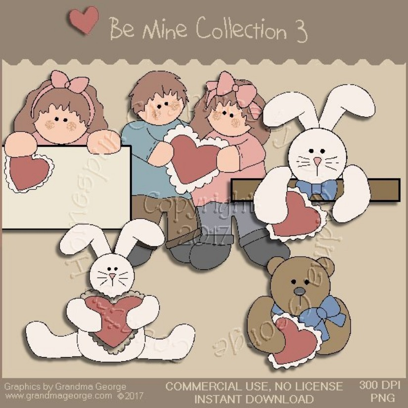 Be Mine Valentine Country Graphics Collection Vol. 3