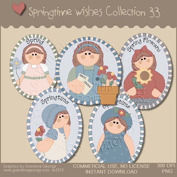 Country Springtime Wishes Graphics Collection Vol. 33
