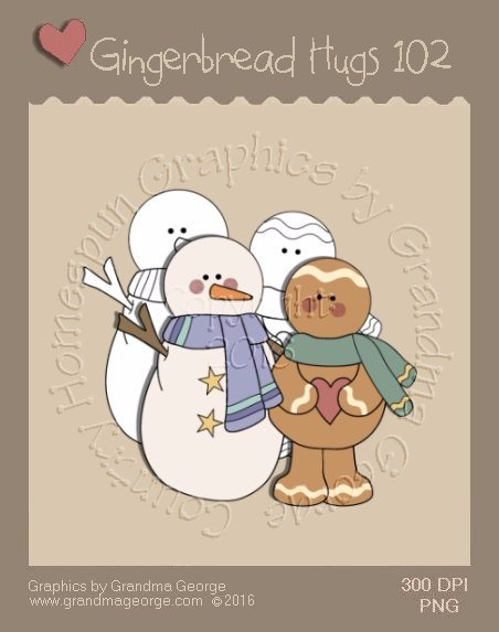 Gingerbread Hugs Single Country Graphic 102