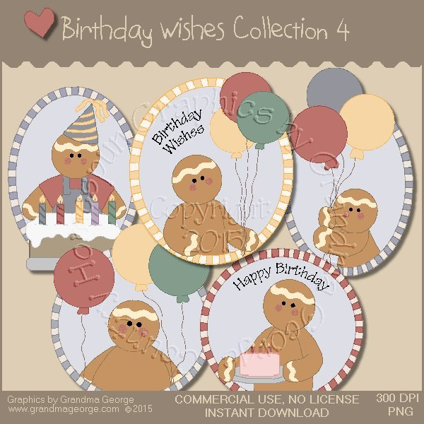 Birthday Wishes Country Graphics Collection Vol. 4