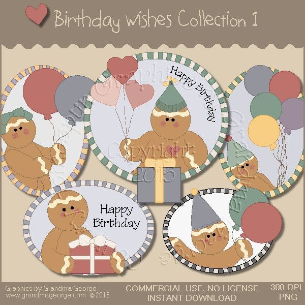 Birthday Wishes Country Graphics Collection Vol. 1