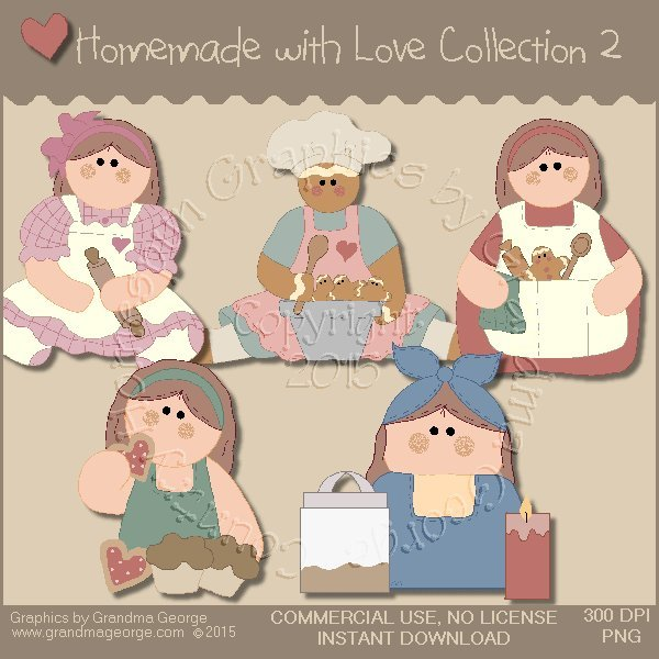 Homemade with Love Graphics Collection Vol. 2