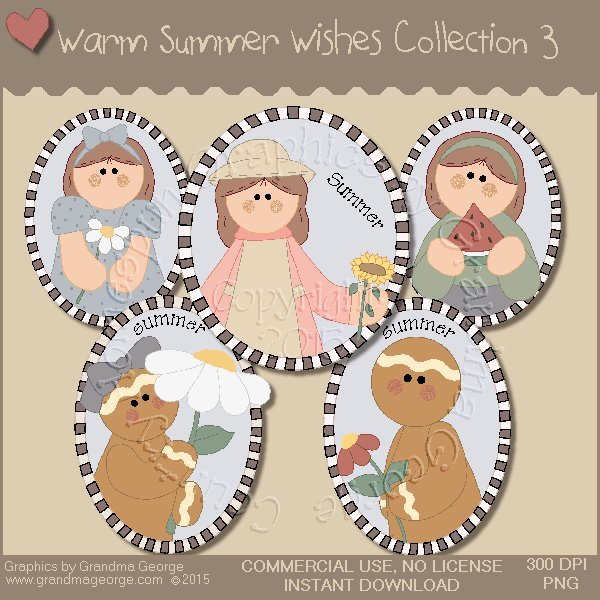 Warm Summer Wishes Graphics Collection Vol. 3