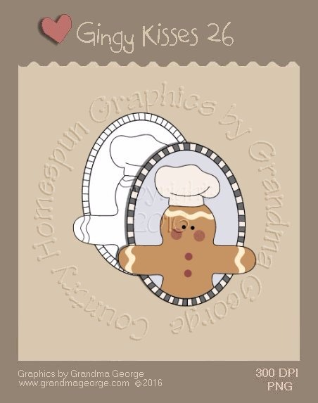 Gingy Kisses Single Country Graphic 26