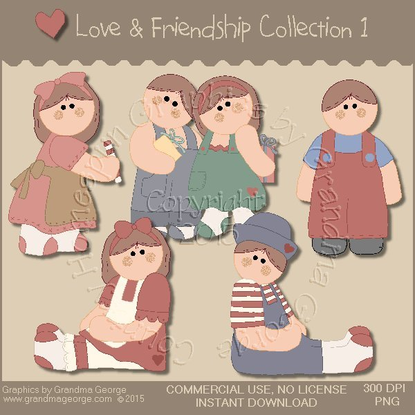 Love & Friendship Graphics Collection Vol. 1