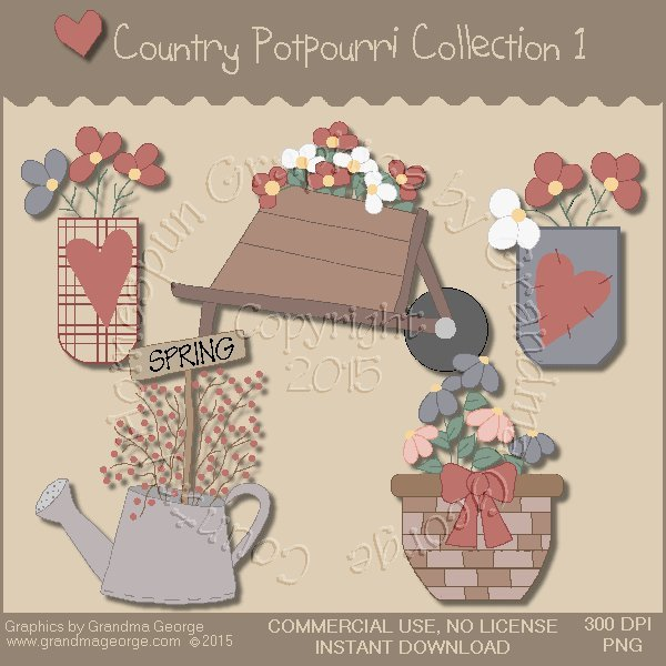 Country Potpourri Graphics Collection Vol. 1