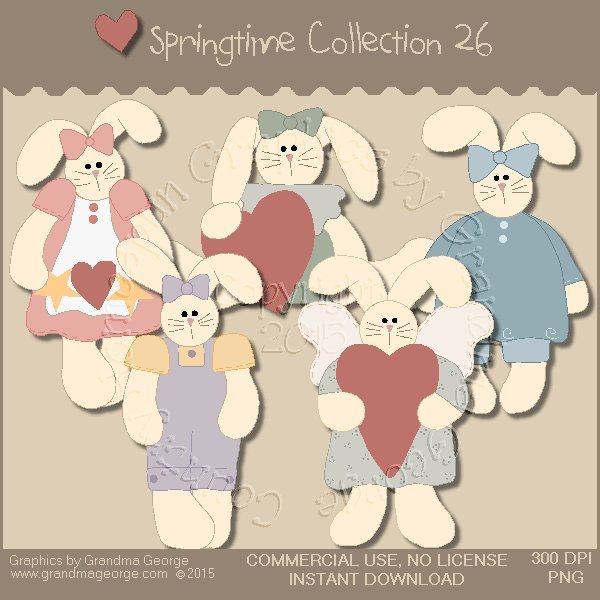 Country Springtime Graphics Collection Vol. 26