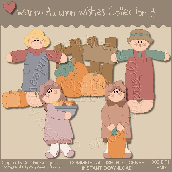 Warm Autumn Wishes Graphics Collection Vol. 3