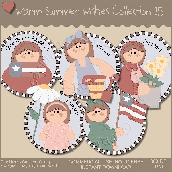 Warm Summer Wishes Graphics Collection Vol. 15