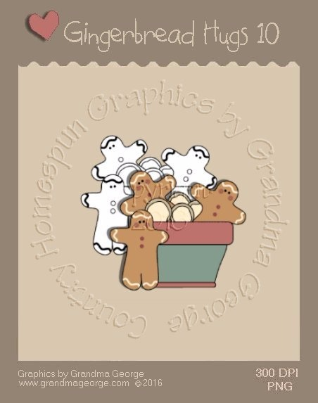 Gingerbread Hugs Single Country Graphic 10