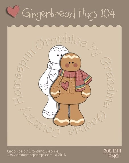 Gingerbread Hugs Single Country Graphic 104