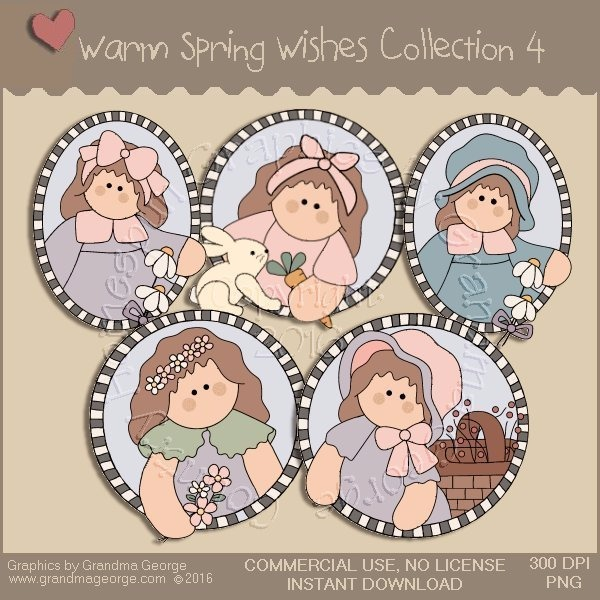 Warm Spring Wishes Country Graphics Collection Vol. 4