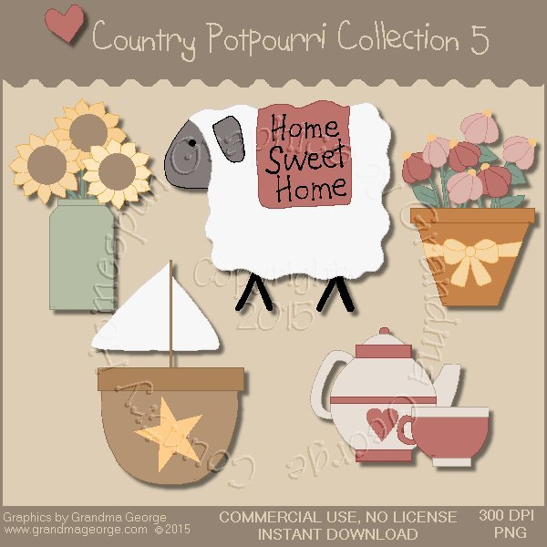Country Potpourri Graphics Collection Vol. 5