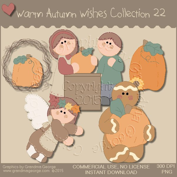 Warm Autumn Wishes Graphics Collection Vol. 22